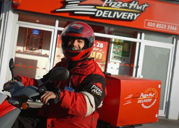 pizza hut delivery man