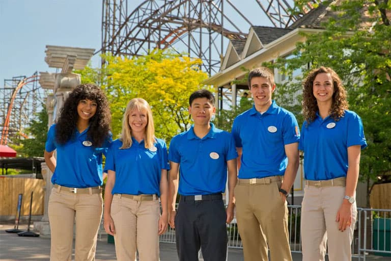 six flags employees