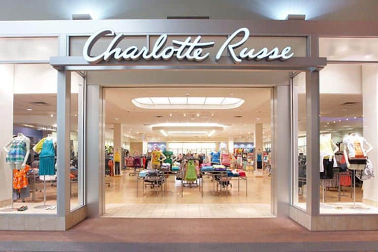 front store of Charlotte Russe inside the mall